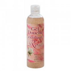 Gel douche exfoliant à la rose